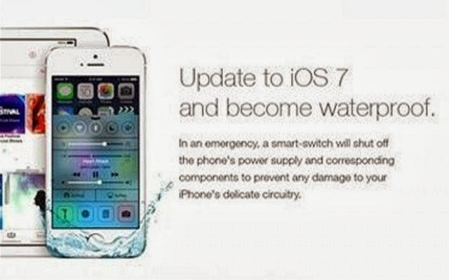 Everything Online Fake Ios 7 Waterproof Advertisement Fools