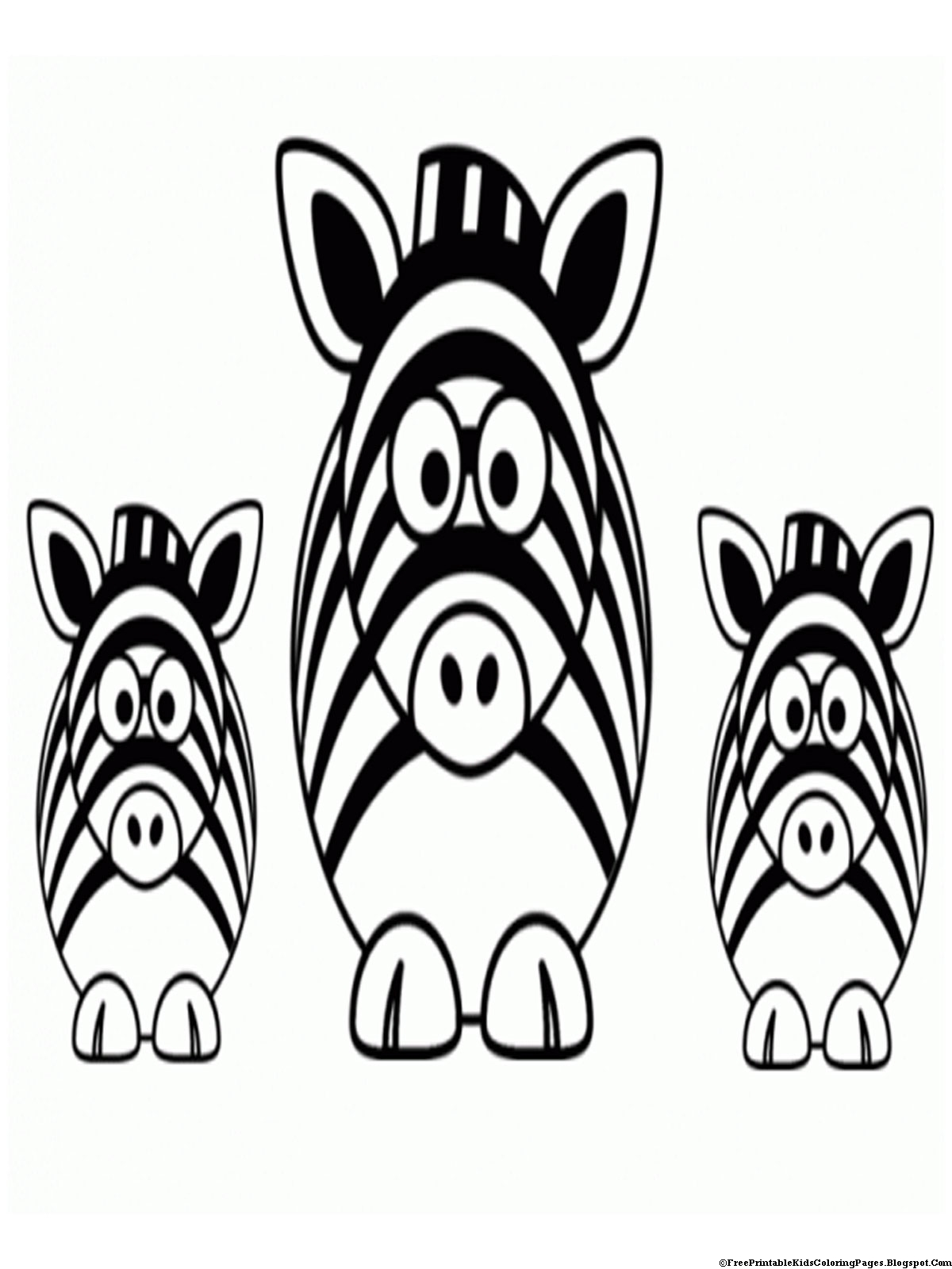 zebra coloring pages without stripes - photo #6