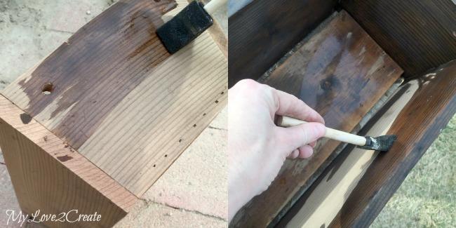 natural vinegar and steel wool stain