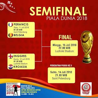 Semi Finas Piala Dunia 2018 Rusia