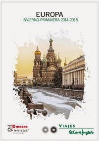 Catálogo viajes a Europa 2015