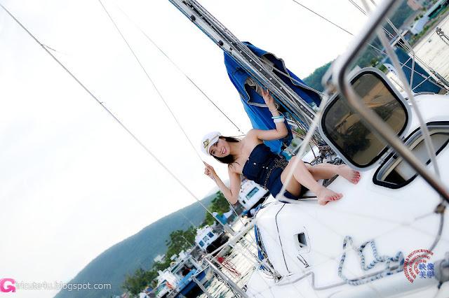 4 Ju Da Ha in Blue- Sexy Leopard-Very cute asian girl - girlcute4u.blogspot.com