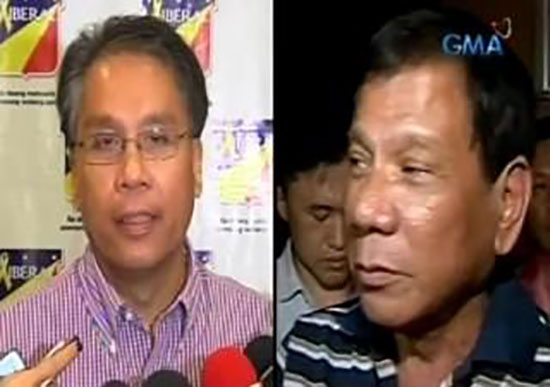 Duterte only need is a handshake initiated first by Mar Roxas