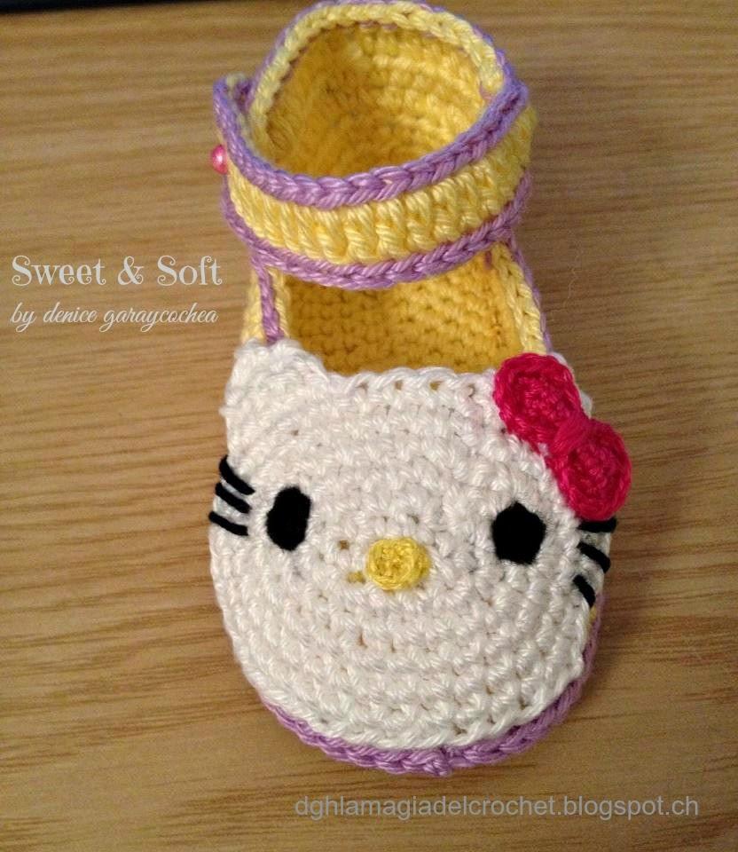 Crochet Tutorial Zapatos Bebe : La Magia del Crochet: Zapatitos para bebE al crochet