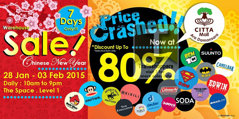 Giomax Multi Brands Warehouse Sale discounts up to 80% off