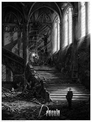 Universal Classic Monsters Screen Print Set by Nicolas Delort & Dark Hall Mansion - Dracula