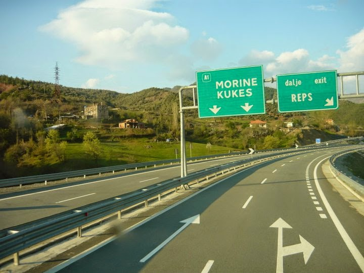 A1 Highway in Northern Albania
