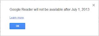 Arrêt de Google Reader