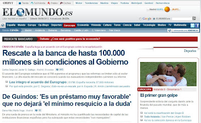 El Mundo, sobre el rescate a la banca española