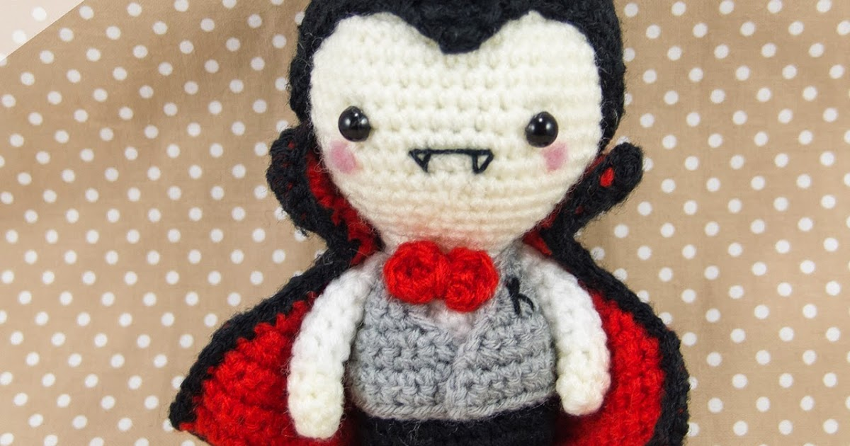 Crochet Amigurumi Blogs : Mr K the Vampire Pattern up for Sale ~ Snacksies ...