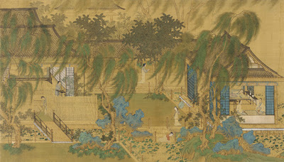 Qianlong court scroll painting
