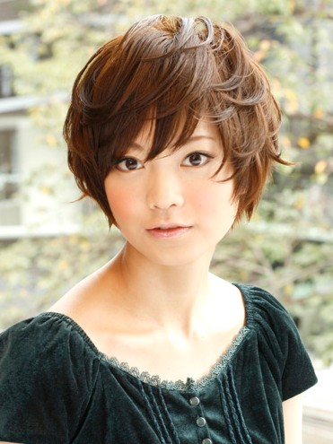 cute messy bun hairstyles : hairstyles 2012 for women cute japanese asian short hairstyles 2012