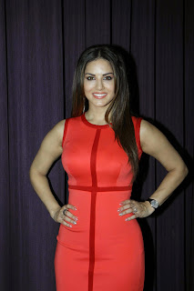 Sunny Leone looks Beautiful in a Red Tight Dress at Ek Paheli Leela Press Meet