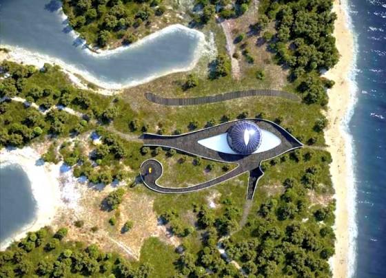 Rumah-eko Naomi Campbell di pulau di Turki berbentuk Mata Horus