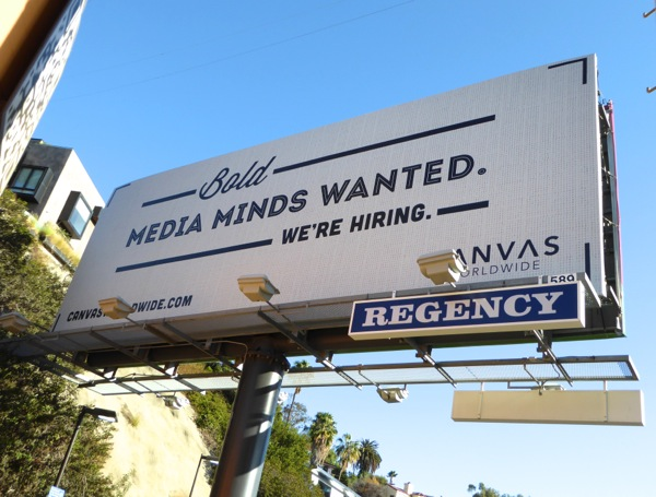 Canvas Worldwide Bold media minds wanted billboard