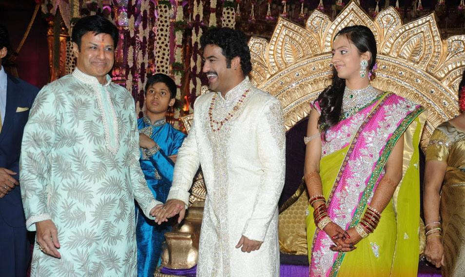 Balakrishna Family @ Jr NTR, Lakshmi Pranathi Marriage | Tollywood ...