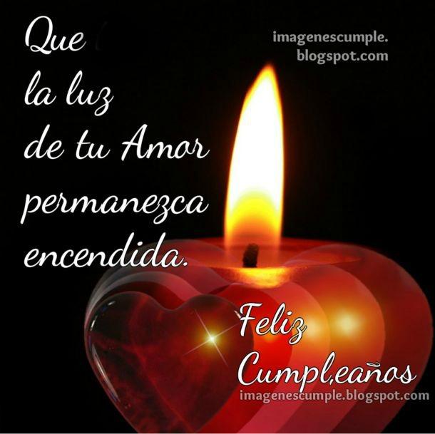 Tarjeta de cumpleaños. Te Deseo un Feliz Cumpleaños con mucho Amor. Postal para felicitaciones en cumple. Imagen bonita por Mery Bracho.