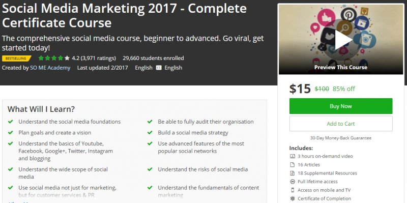 Social Media Marketing  Complete Certificate Course  Udemy