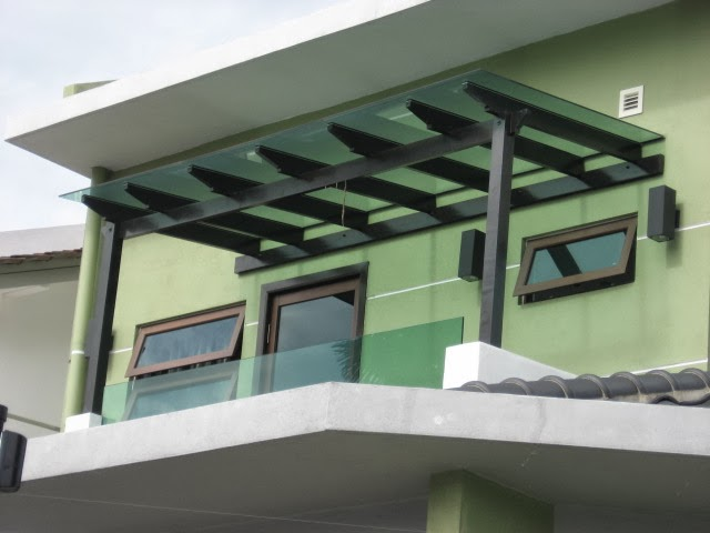 Gate and roof glass roof modern and urban is the best choice now a days - Glas pergola ...