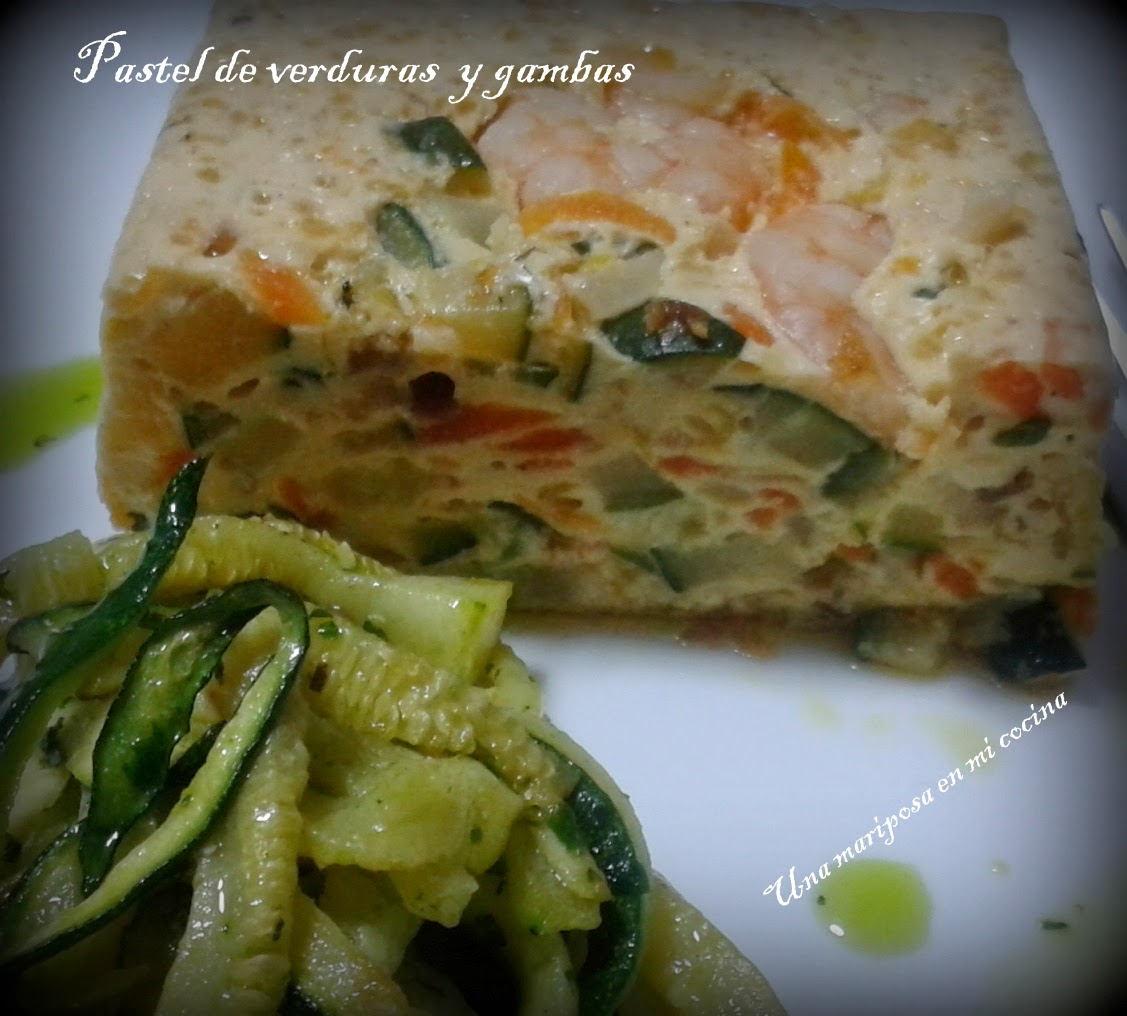 Pastel De Verduras Con Gambas