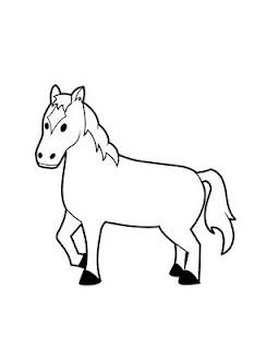Desenho como desenhar cavalinho lindo pastando ponei indio bravo pintar e colorir