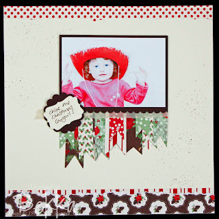 Christmas Cowgirl Scrapbook Page with Holly Berry Specialty Papers