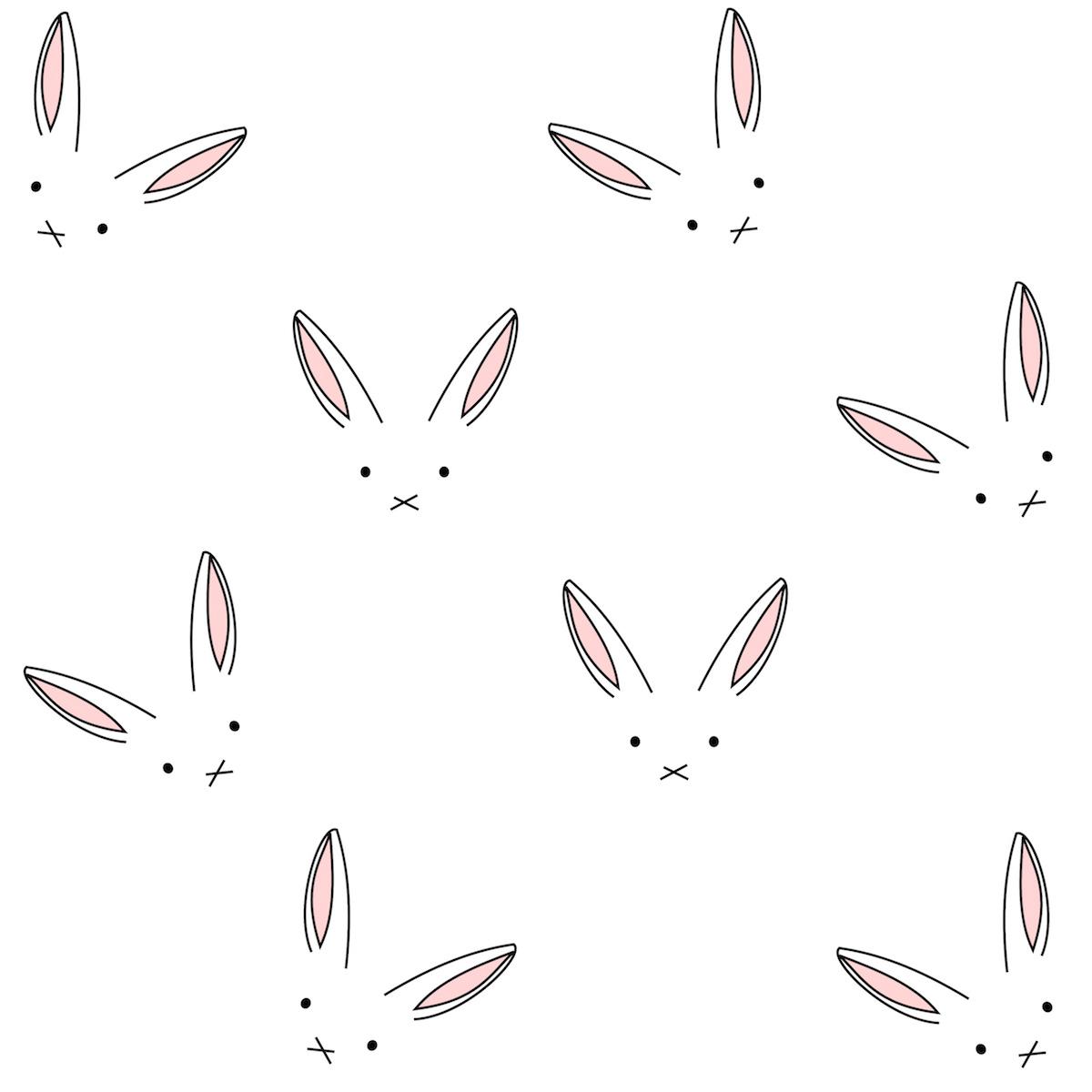 Line Art Digital : Free digital bunny scrapbooking paper minimalist
