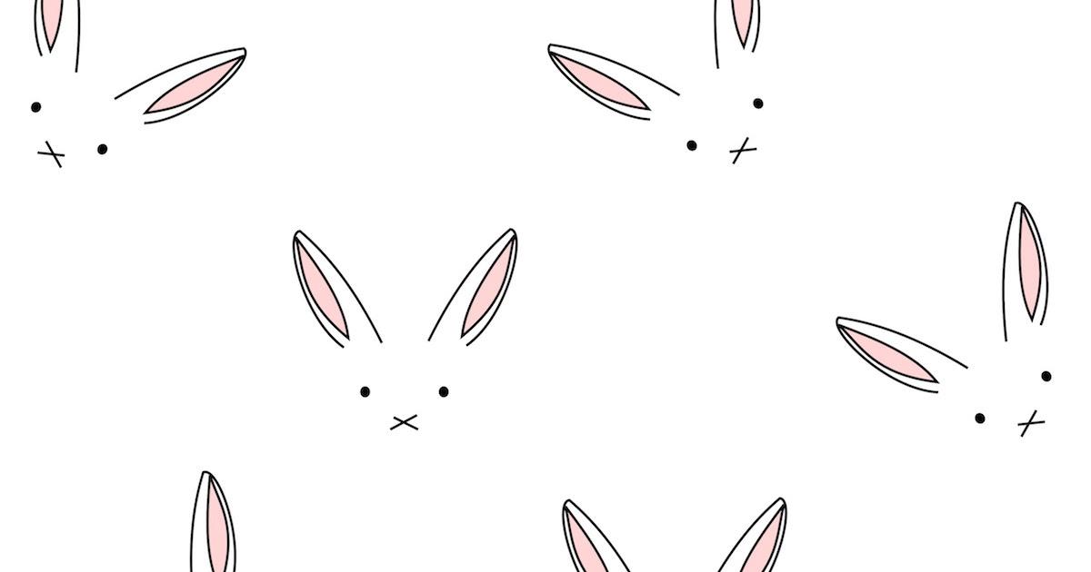 Digital Line Art : Free digital bunny scrapbooking paper minimalist