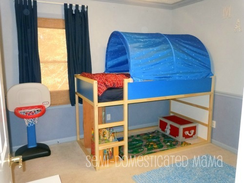 Ikea Child Loft Bed Interesting Ikea Kura Bed Painted With A Nice