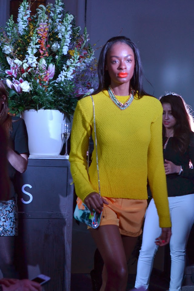 harvey nichols fshion show mellow yellow