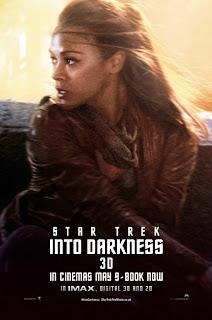 Zoe Saldana Star Trek Poster
