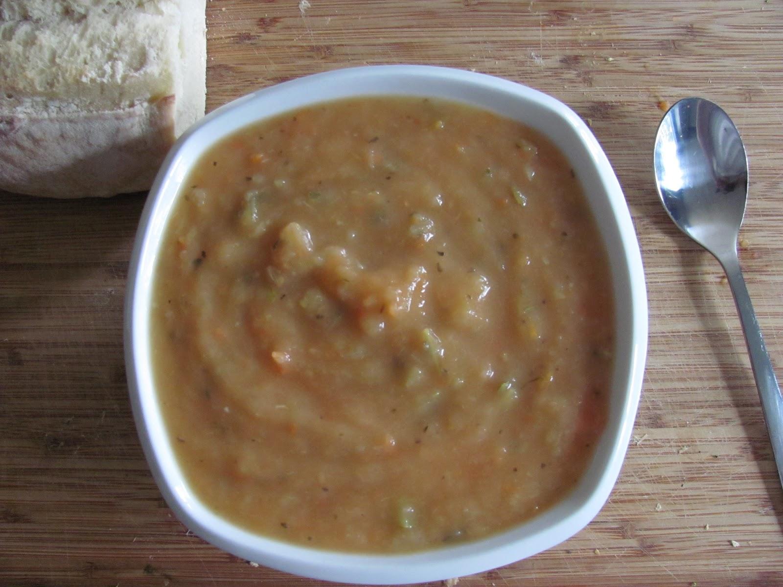 Anecdotes de cuisine potage la courgette mammouth tomate et basilic - Potage a la tomate maison ...