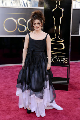 HELENA BONHAM CARTER RED CARPET OSCAR 2013