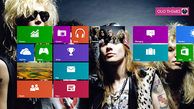 2013 Guns N Roses Theme For Windows 8