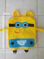Tas Boneka Minion Jenis Ransel atau Gemblok