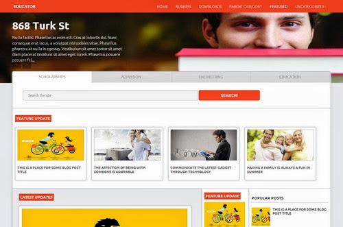 educator education responsive blogger template 2014 for blogger or blogspot