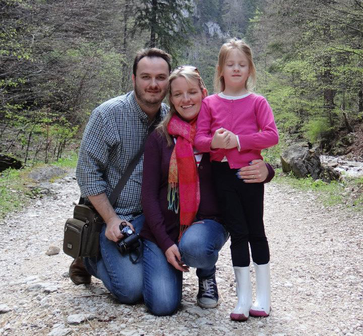 My wife, daughter and I in Romania