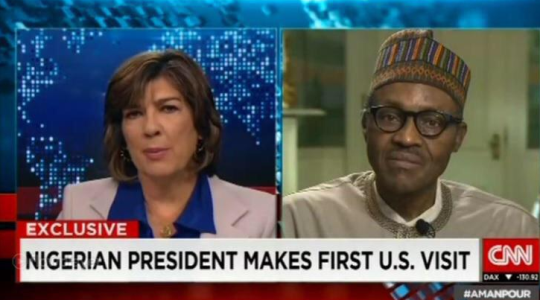 Buhari Speaks to Amanpour, Says Nobody will Escape Justice