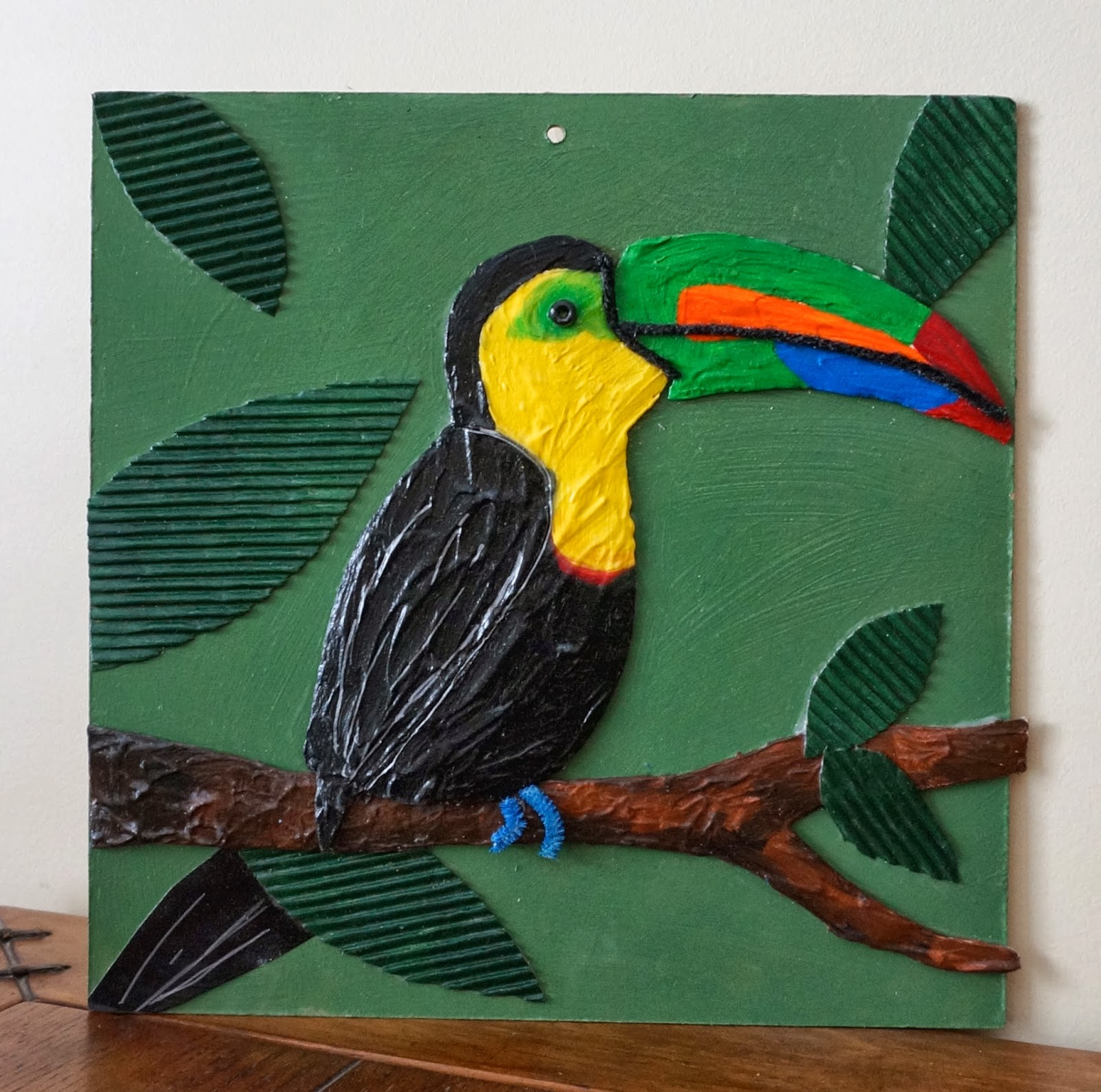 That artist woman toucan portraits for Painting craft projects