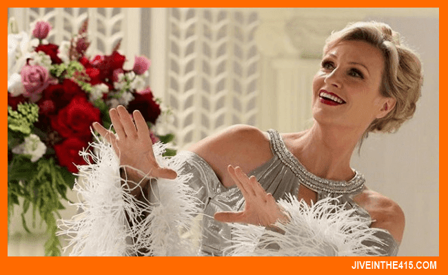 "Jane Lynch as Ginger Rogers on the Fox series ""GLEE"""