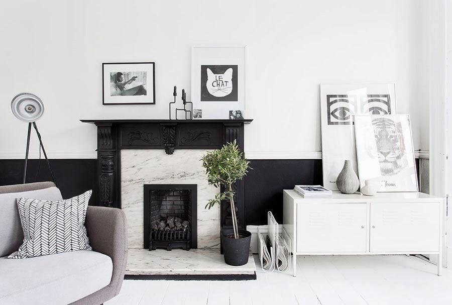Rom for deg: lekkert designerhjem i svart og hvitt
