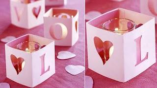 Decoracion con velas candelas san valentin