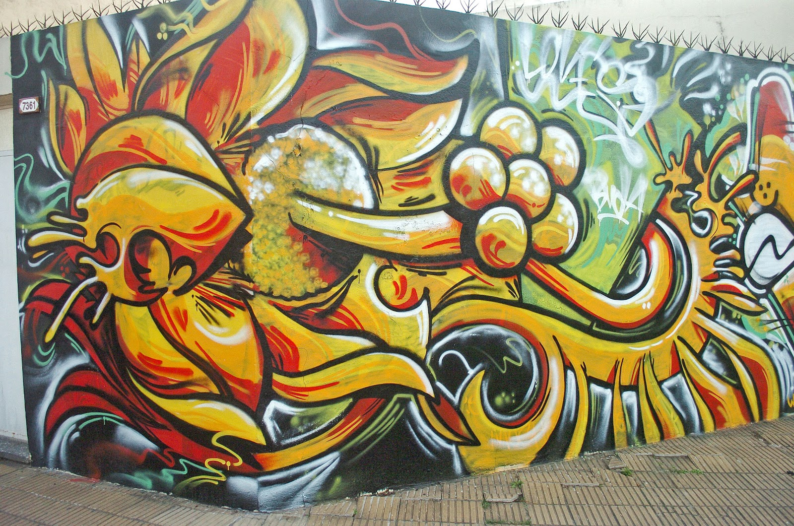 CAPITAL FEDERAL- GRAFFITIS - STREET ART - BANDERAS DE EGRESADOS: 07/12