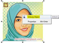 UnLock Object CorelDRAW