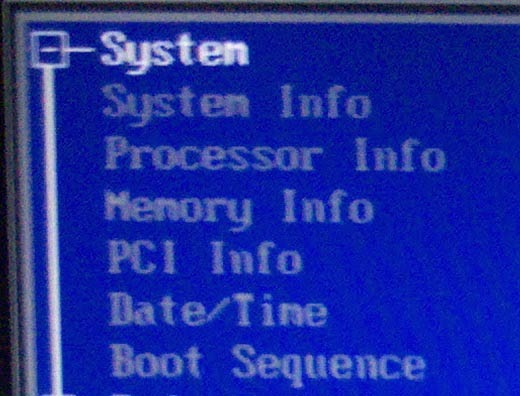 BIOS Boot Sequence
