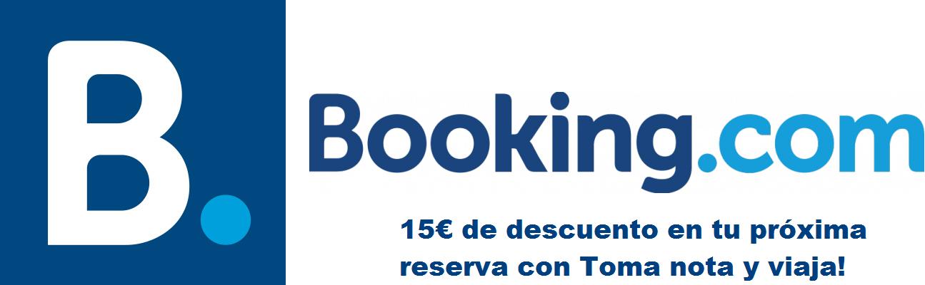15€ de descuento en Booking!