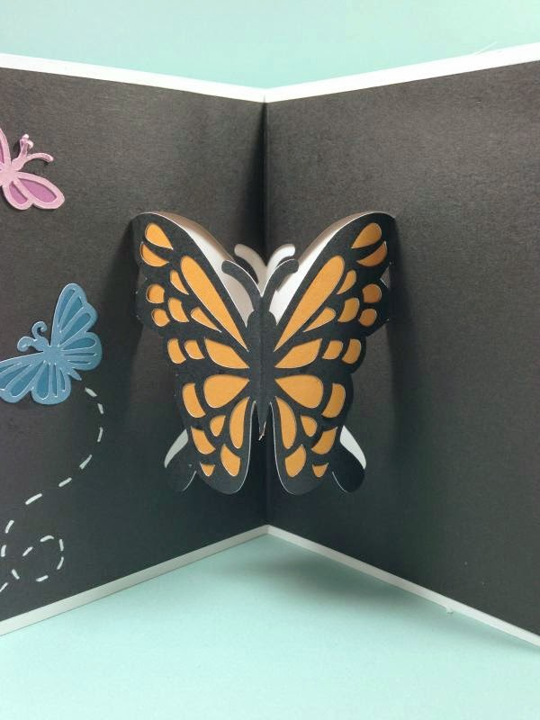 Close To My Heart Artfully Sent Butterfly Pop-up card inside