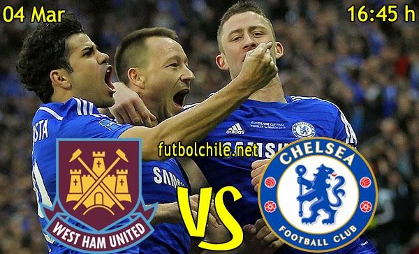 West Ham United vs Chelsea - Premiere League - 16:45 h - 04/03/2015
