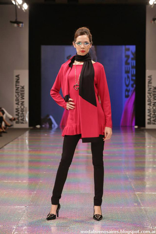 Adriana Costantini otoño invierno 2014. Desfile de moda BAAM N°40. Argentina Fashion Week.
