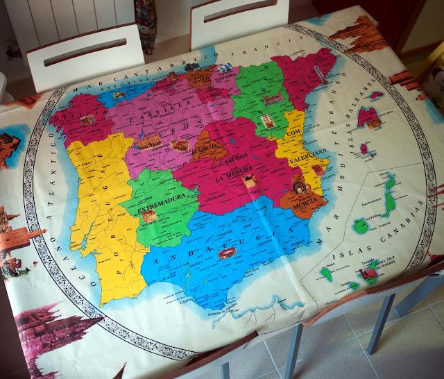 Mantel del mapa geopolítico de España